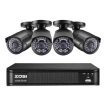 ZOSI Home Video Surveillance Camera System,1080p Lite Security DVR 8 Channel(No HDD) with (4) 1080p FHD CCTV Bullet Camera Outdoor/Indoor,Remote Access, Customizable Motion Detection