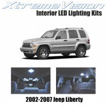 Xtremevision Interior LED for Jeep Liberty 2002-2007 (9 Pieces) Cool White Interior LED Kit + Installation Tool