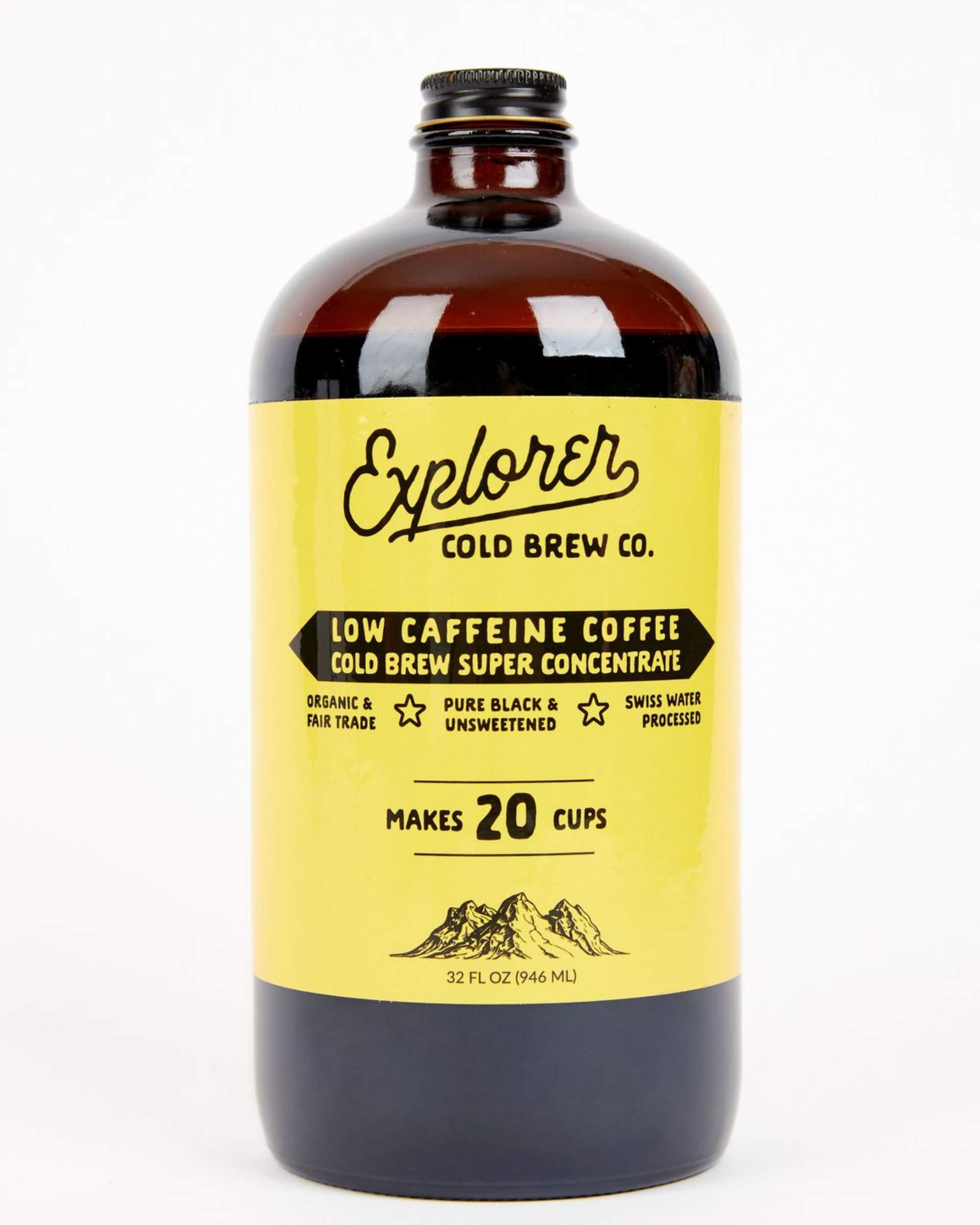 Explorer Cold Brew | Low Caffeine | 1:4 Super Concentrate | Makes 20-30 Coffees | 32oz