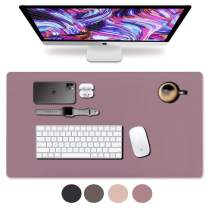 "Leather Desk Pad 31.5"" x 15.7"", Vine Creations Office Desk Mat Waterproof Purple/Pink, Mouse Pad and Writing Surface, Top of Desks Protector, Dual-Sided Pu Leather Blotter Accessories Office Decor"