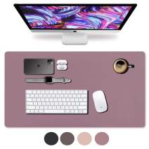 """Leather Desk Pad 31.5"""" x 15.7"""", Vine Creations Office Desk Mat Waterproof Purple/Pink, Mouse Pad and Writing Surface, Top of Desks Protector, Dual-Sided Pu Leather Blotter Accessories Office Decor"""