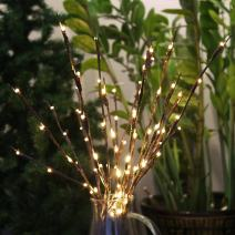 Accmor 4 Pack Led Lighted Twig Branches, Battery Powered 20 Inches 20 LED Lights Branch Lights for Christmas Home Decoration