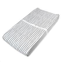 American Baby Company Printed 100% Natural Cotton Jersey Knit Fitted Contoured Changing Table Pad Cover, Silver Black Stripe, Soft Breathable, for Boys and Girls