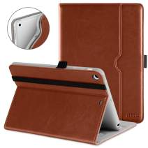 DTTO iPad Mini 1 2 3 Case, Premium Leather Folio Stand Cover Case with Multi-Angle Viewing and Auto Wake-Sleep Function, Front Pocket for Apple iPad Mini 1/Mini 2/Mini 3 - Brown