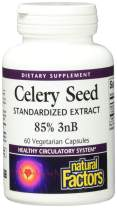 Celery Seed Extract by Natural Factors, Herbal Supplement for a Healthy Circulatory System, 60 Vegetarian Capsules (60 Servings)