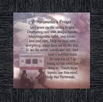 Crossroads Home Décor A Paramedics Prayer, Great Gifts for Emergency Medical Technician, Emergency Vehicle Themed Art, 10x10 8713CH