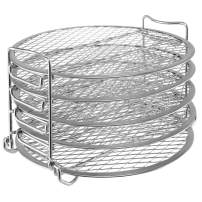 Dehydrator Stand for Ninja Foodi Accessories, Dehydrator Rack with Five Stackable Layers Food Grade 304 Stainless Steel Compatible with Ninja Foodi Pressure Cooker 6.5 qt
