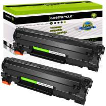 GREENCYCLE 2PK Replacement Compatible for HP 36A CB436A Black Mono Laser Toner Cartridge Ink use in Laserjet M1522n MFP M1522nf MFP P1505 P1505n M1120 MFP M1120n MFP M1522 MFP 1522F MFP MFP M1550