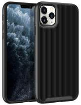 HoneyAKE Case for iPhone 11 Pro Max Case Slim Protective Cover Anti Slip Hybrid Soft TPU Hard PC Bumper Raised Lips Rugged Shockproof Protection Shell for iPhone 11 Pro Max 6.5 inches Black