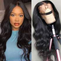 NOBILITY Hair Brazilian 10A Body Wave Lace Front Wigs Human Hair 100% Unprocessed Virgin Human Hair 13x4 Lace Frontal Wigs With Baby Hair for Black Women Natural Hairline (28inch)