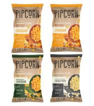 Pipcorn Heirloom Cheese Ball Variety Pack - Cheddar (2), Broccoli Cheddar, and Cacio E Pepe, 4.5oz Bags, 4 Pack - Organic Cheese, No Artificial Anything, Non-GMO Corn, Gluten Free