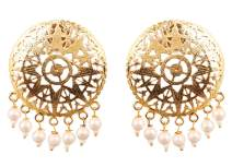 Touchstone Indian Bollywood Fashion Fine Prety Pattern Exclusive Tribal Gypsy Earrings for Women.