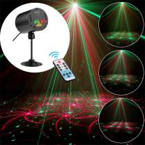 SUNY Mini Portable Laser Lights 8 RG Patterns Gobo Projector Sound Activated Music DJ Party Lights with Remote Control for Indoor Travel Camping Disco Live Show Home Dance Event Holiday Birthday Gift