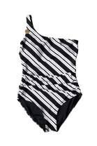 Nip Tuck Black Line Rider One Shoulder Tummy Control One Piece Swimsuit