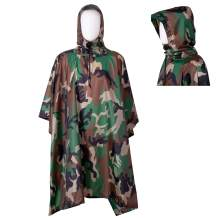Senmortar Rain Poncho with Hood Waterproof Raincoat Reusable Rain Coat Jacket Multifunctional Rain Gear Emergency Blanket for Men Women Adults Hunting Hiking Camping Fishing Walking Festivals