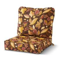 Greendale Home Fashions AZ7820-TIMBFLORAL Russet Outdoor 2-Piece Deep Seat Cushion Set