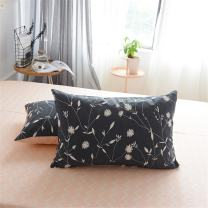 PinkMemory Queen Floral Pillowcases Gray Pink Peach Bed Pillow Shams 100% Cotton Pillow Covers 20x 30 Inches Set of 2 Envelope Closure