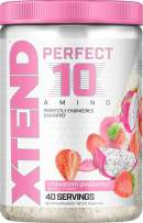 Scivation XTEND Perfect 10 Amino EAA Powder Strawberry Dragonfruit   5g Essential Amino Acids + Branched Chain Amino Acids + Electrolytes to Fuel Hydration & Recovery   40 Servings