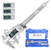 Kynup Digital Caliper, Caliper Measuring Tool with Stainless Steel, IP54 Waterproof Protection Design, Easy Switch from Inch Metric Fraction, Large LCD Screen (6 Inch /150mm)