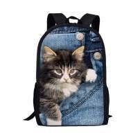 Allcute Kids School Backpack Large Durable Elementary Preschool Book Bags for Boys Girls Cat Print