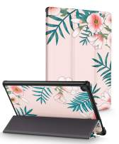 "GVIEWIN Case for Amazon Fire HD 10 Tablet 10.1"", Folio 3D Painting PU Leather Smart Cover with Auto Sleep Wake, Magnetic Closure(7th/ 5th, 2017 2015 Release)(Eternity Parterre/Pink)"