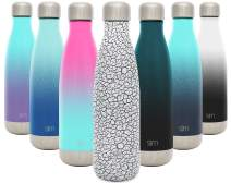 Simple Modern 17oz Wave Water Bottle - Stainless Steel Double Wall Vacuum Insulated Reusable Leakproof Pattern: Crackle Pop
