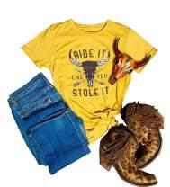Cowgirl Shirt Do No Harm But Take No Bull Shirt Womens Country Music Graphic Tops Tee