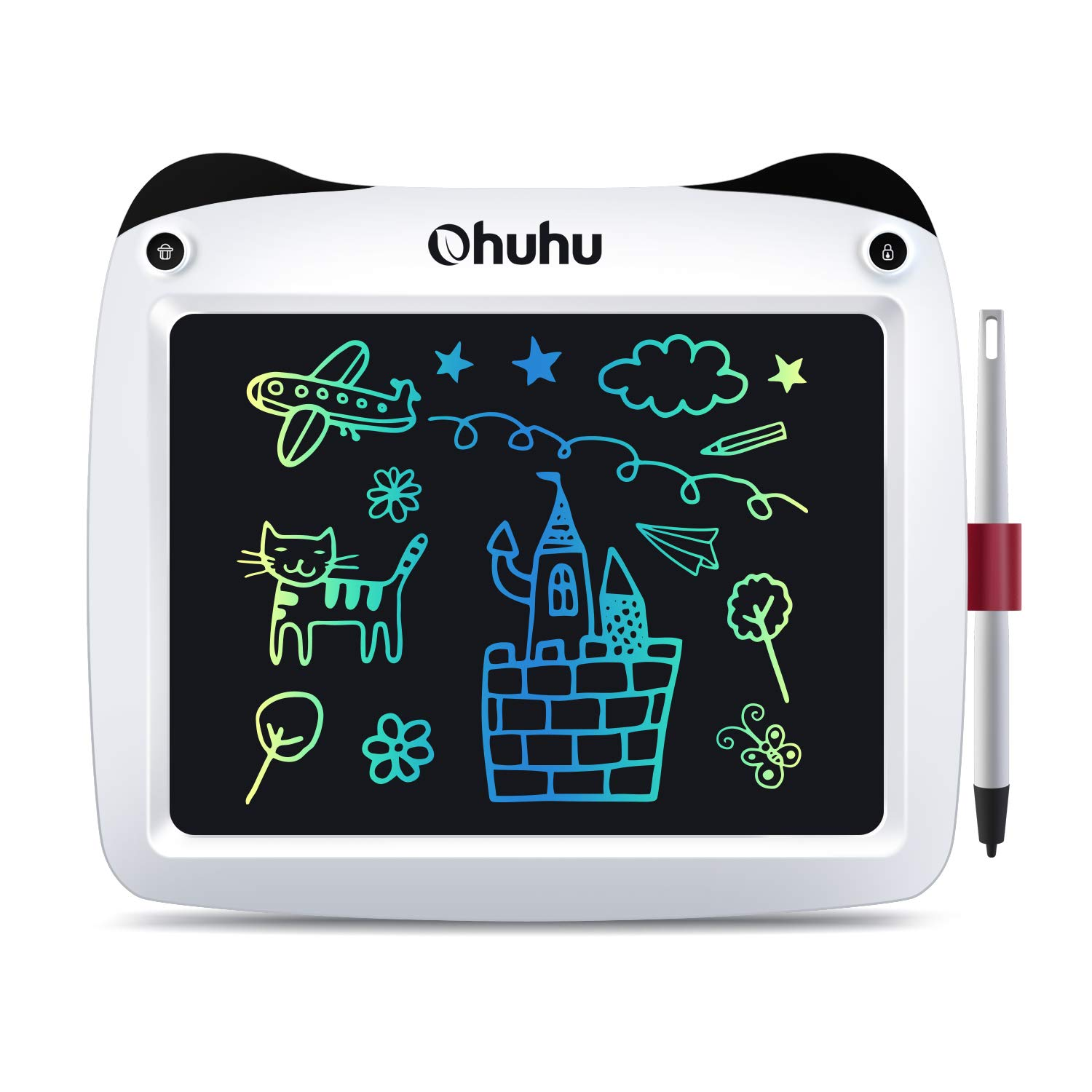 """LCD Writing Tablet Colorful Screen, Ohuhu 9"""" Electronic Drawing Board, Doodle Board, LCD Digital Handwriting Pad Gifts for Kids Children at Home and School, Scribble and Play Learning Boards Ages 3+"""