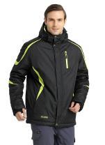 Krumba Men's Sportswear Outdoor Waterproof Windproof Hooded Ski Jacket Black M
