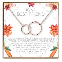 Dear Ava Necklace: BFF, Long Distance, Friends Forever, 2 Interlocking Circles