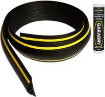 "Garadry 1"" High Garage Door Threshold Seal Kit (18'3"")   Ramp Profile   Black/Yellow, Vinyl   Complete Kit, Includes Adhesive"