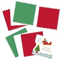 Baker Ross Mini Festive Colors Christmas Greeting Card Blanks (Pack of 20) for Children to Decorate and Embellish