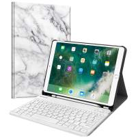 """Fintie Keyboard Case for iPad Air 3rd Gen 10.5"""" 2019 / iPad Pro 10.5"""" 2017 - SlimShell Stand Protective Cover w/Magnetically Detachable Wireless Bluetooth Keyboard and Pencil Holder, Marble"""