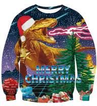 TUPOMAS Unisex Ugly Christmas Sweater 3D Printed Funny Xmas Crewneck Sweatshirt