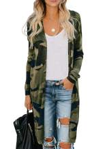 Chase Secret Womens Long Sleeve Print Lightweight Casual Cardigans Outwear Coats