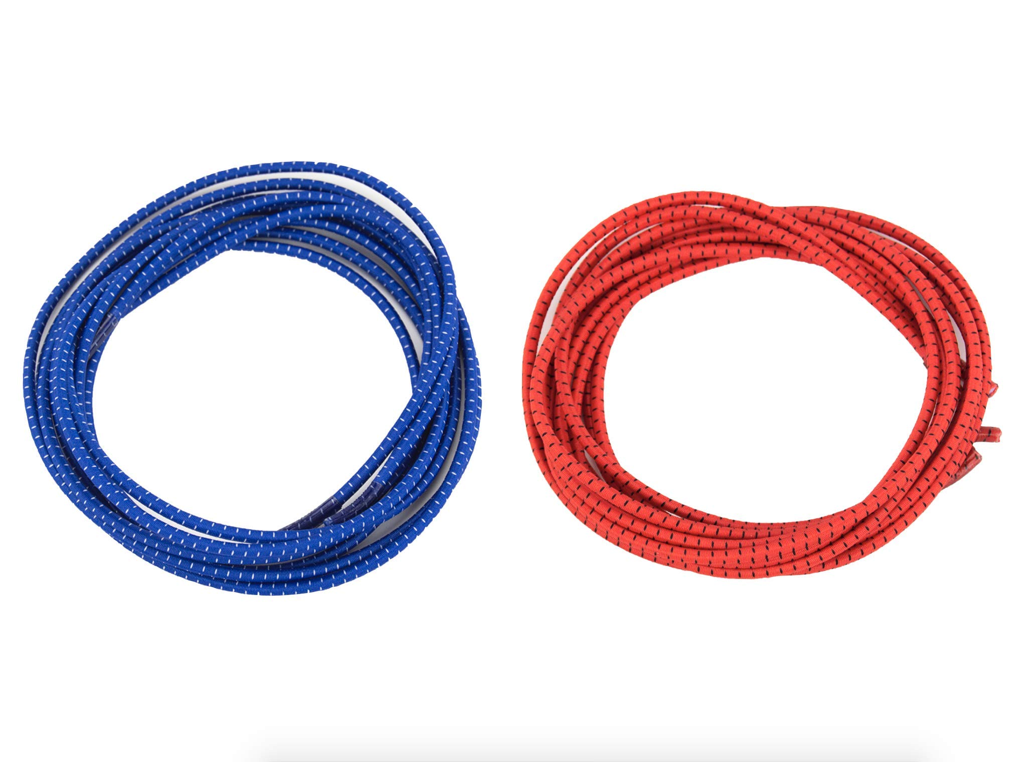 """Elastic No Tie Shoelaces for Adults and Children (2-Pack) (39"""" with End Covers, Red & Blue)"""