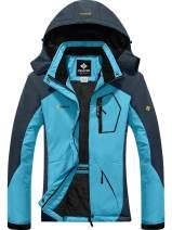 CHERFLY Women's Winter Windproof Jacket Waterproof Thicken Coats with Removable Hood