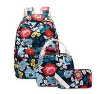 Joymoze Teen Girl School Backpack with Insulated Lunch Bag Pencil Purse