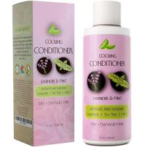 Natural Conditioner for Dry Hair with Invigorating Mint & Soothing Lavender Essential Oils for Hair & Scalp – Sulfate Free Treatment for Dry Hair and Flaky Scalp - Safe for Color Treated Hair
