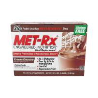 MET-Rx Original Whey Protein Powder,Meal Replacement Shakes, Low Carb, Gluten Free, Extreme Chocolate, Vitamin A, Vitamin C, Vitamin D, and Zinc to Support Immune Health, 2.54oz. Packets, 40 Count