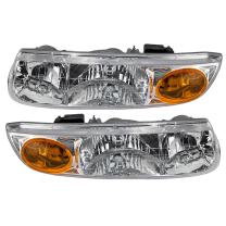 Replacement Driver and Passenger Set Headlights Compatible with S-Series Sedan Wagon 21112455 2111245656
