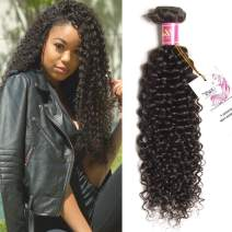 UNICE Hair Brazilian Curly Virgin Human Hair Extensions 1 Bundle 95-100g/pc Natural Color 12inch