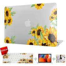 Laptop Case MacBook Case Sunflower Hard Shell Cover & Keyboard Cover & Screen Protector Only Compatible MacBook Pro 15 Inch with Retina Display(A1398)