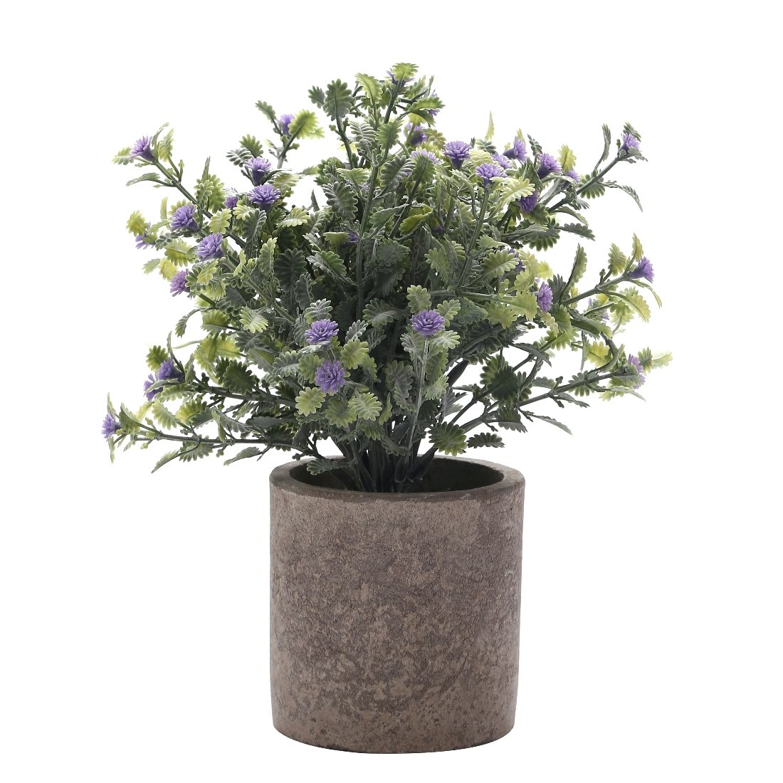 HC STAR Artificial Plant Potted Mini Fake Plant Decorative Lifelike Flower Green Plants - 1102 (Round Pot, Purple)¡­