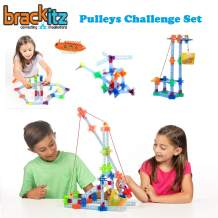 Brackitz Pulleys STEM Challenge Set for Kids Ages 4-7 Years Old | Educational Engineering Toy | 124 Pieces