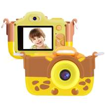 """TURN RAISE Kids Camera Gifts for 3-10 Year Child,16.0MP HD 2.0"""" Screen 1080P Video Resolution Anti-Drop Mini Selfie Child Camcorderr for Boys & Girls Camera Toy with Soft Silicone Cover"""