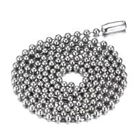 SINLEO Titanium Stainless Steel Small Beads Ball Chain Necklace for Men Women 18-38 Inches Silver Black Gold