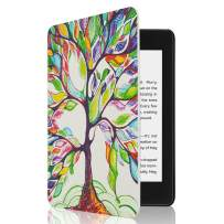 CoBak Kindle Paperwhite Case - All New PU Leather Smart Cover with Auto Sleep Wake Feature for Kindle Paperwhite 10th Generation 2018 Released, Lucky Tree