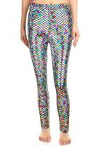 For G and PL Halloween Women Shiny Fish Scale Mermaid Leggings