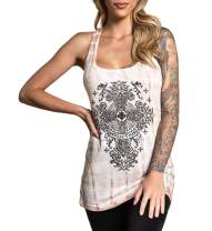 Affliction Women's Graphic Homily Tank Variant Cute Baby Tee